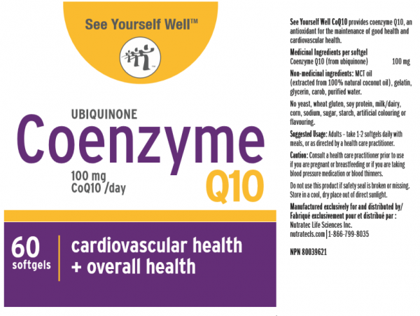 See Yourself Well CoenzymeQ10 ingredients