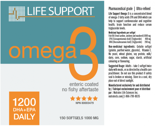 Life Support Omega-3 150 softgels