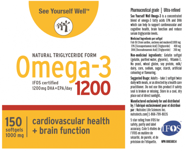 See Yourself Well Omega-3 ingredients