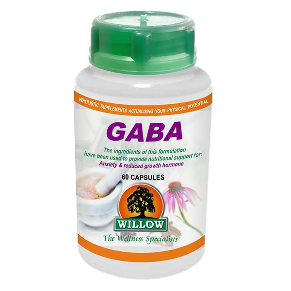 Willow GABA (Gamma Amino Butyric Acid) 460mg capsules